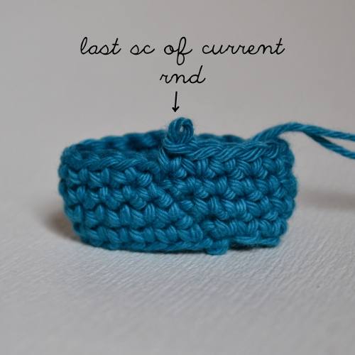 Crochet Stitches Working In Rounds : work my last stitch of the current round in the joining slip stitch ...